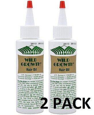 WILD GROWTH 4oz HAIR OIL Detangler/Extender! Olive, Jojoba, Coconut Oil * 2 PACK