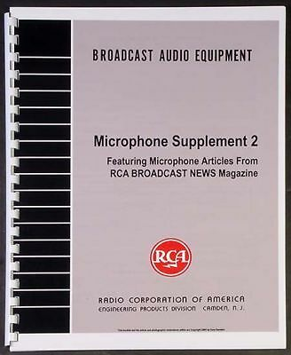 RCA Microphone Supplement 2, 30 Pages! 44-BX 77-DX for sale  Vancouver