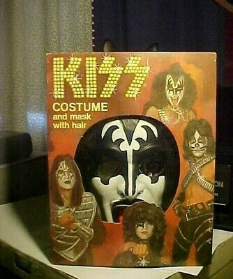 NEVER USED Vintage 1978 Collegeville Kiss GENE SIMMONS Halloween Costume In BOX