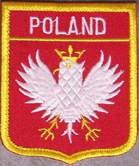 Embroidered International Patch National Flag of Poland NEW bunting