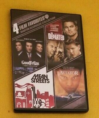 MARTIN SCORSESE - Lot of 4 DVDs - Departed, Good Fellas, Aviator, Mean (Aviator Means)