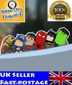 Marvel super hero sticker ironman superman batman spiderman hulk captain america ebay - Superman en voiture ...