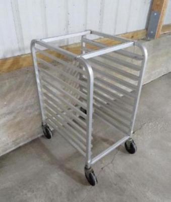 Aluminum Full Size Bun Sheet Pan Rack 10 Shelf Restaurant Bakery Cart
