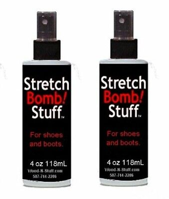 (2) TWO Bottles of Shoe STRETCH BOMB Works Best on BOOTS SHOE