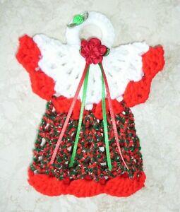 mini angel potholder tree topper ornament wall decor crochet christmas new. Black Bedroom Furniture Sets. Home Design Ideas