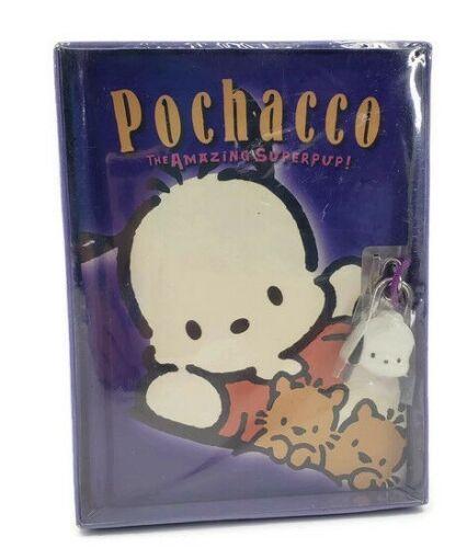 New Vtg 2001 Sanrio Pochacco The Amazing SuperPup Diary with Lock Hello Kitty