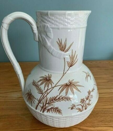 "Brownfield & Sons Pitcher ""Mandarin""  Antique Very Good Condition Free Shipping"