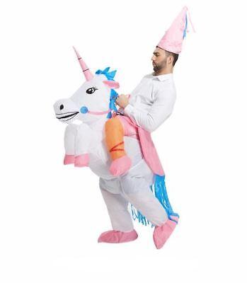 Aufblasbar Weiß Einhorn Kostüm Verkleidung Geburtstagsfeiern Spaß Holiday - Einhorn Kostüm Lustig