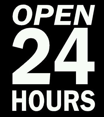 Open 24 Hours Vinyl Decal Sticker Sign For Any Business