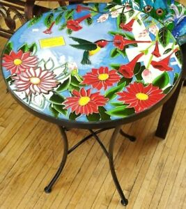 Hummingbird Ceramic Patio Table for Home or your Cafe!