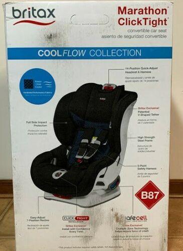 Britax Marathon ClickTight Convertible Car Seat Cool Flow - Teal E1C339T NEW!