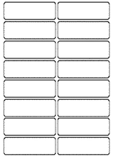 70x25mm White Self Adhesive Label Stickers Small Sticky Document Address Storage