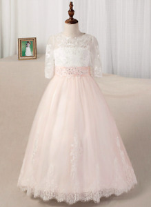 Flower Girl /  Ball Gown / Princess Dress with Train