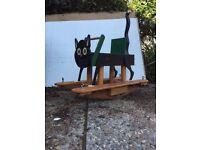 Homemade cat swing/seesaw