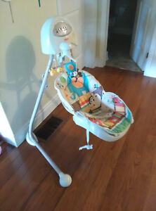 baby music swing with battery.
