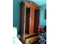 Beautiful antique French wardrobe, genuine walnut