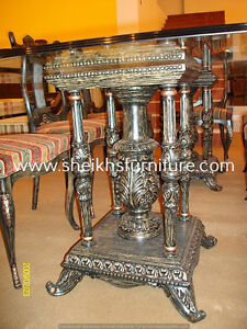 fhdba Wooden carved dining pillars and dining chairs afghgde