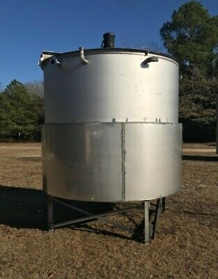 3000 Gallon 304 Jacketed Stainless Steel Mixing Tank W Top Mounted Agitation