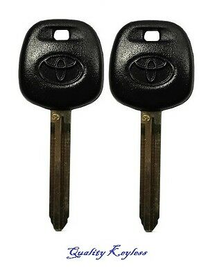 Pair New Uncut Replacement Transponder Ignition G Chip Key Toyota 89785-08040