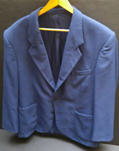 Men's summer-weight blue size 44 suit jacket / blazer