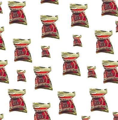 1x10 Glückskekse Fortune Cookies in Goldfolie einzeln Glückskeks China ROT