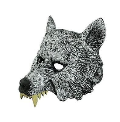 Adult Men's MASQUERADE Wolf Werewolf Devil Demon Costume Half Face MASK VENETIAN (Demon Wolves Halloween)