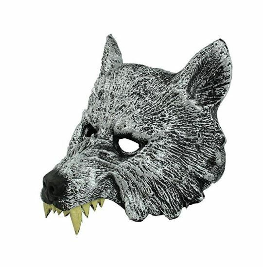 Adult Men's MASQUERADE Wolf Werewolf Devil Demon Costume Hal