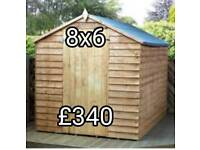 New sheds 2 sizes available