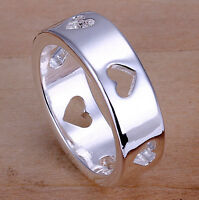 Unisex Silver Band - Ring, size 7, 8