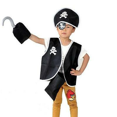 5 PCS SET KIDS CHILD PIRATE COSTUME HALLOWEEN - Child Pirate Halloween Costumes