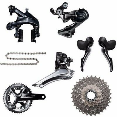 NEW Shimano Dura Ace R9100 Road Bike Compact 50/34 8 Piece Groupset 11-30T 170mm