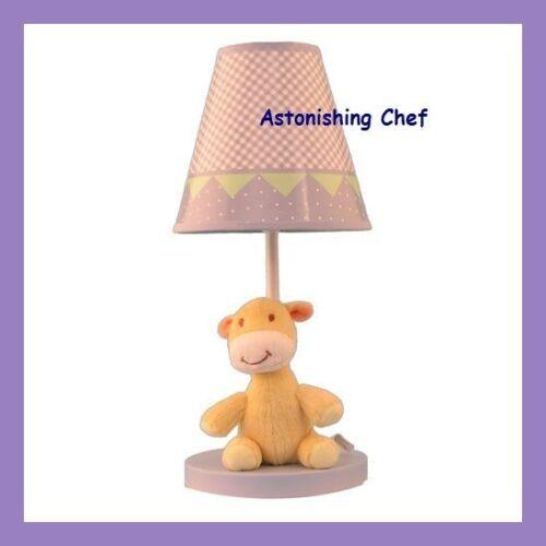 PLUSH ZOO NURSERY LAMP WITH MATCHING SHADE NEW BABY