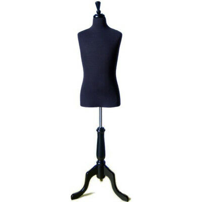 Mn-504 Black Childrens Dress Form Mannequin - Pinnable Sizes 12-14 X-large