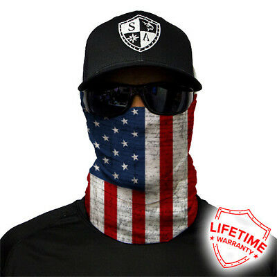 f274e60114b7d SACo Face Shield Tube Bandana Mask Dunes Hunting Fishing USA AMERICAN FLAG   13