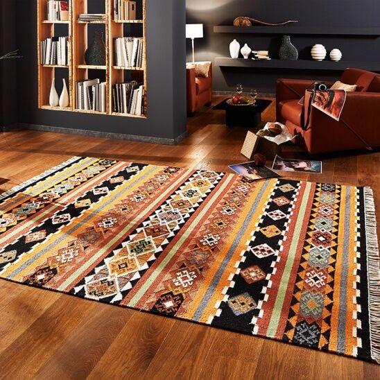 Handgewebter Kelim Teppich Winona Ethno versch. Größen