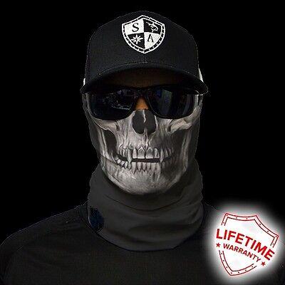 Salt Armour SA Tactical Black Skull Face Shield Sun Mask Balaclava  **USA**