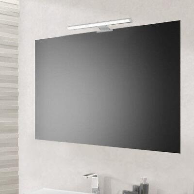 Specchio semplice per bagno 90x60 reversibile con supporti e lampada led