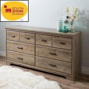 NEW* SOUTH SHORE 6-DRAWER DRESSER CHEST - DOUBLE  DRAWER DRESSER - WEATHERED OAK - HOME FURNITURE BEDROOM 105663875