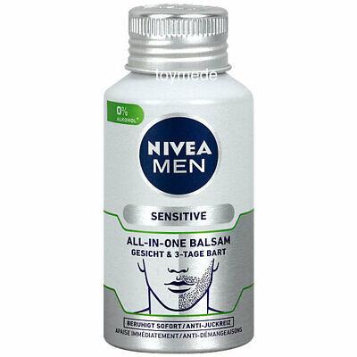 NIVEA MEN sensitive ALL-IN-ONE BALSAM Gesichtspflege 0%Alkohol 125ml Trocken