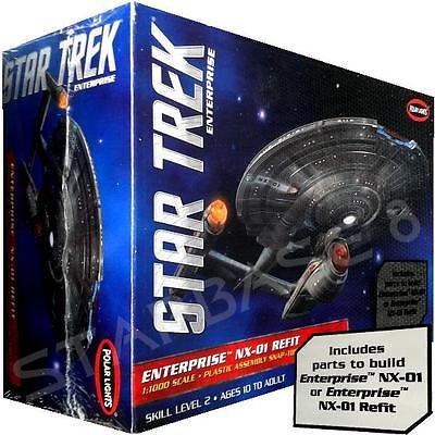 NX-01 ENTERPRISE REFIT - STAR TREK BAUSATZ / KIT von Polar-Lights 1/1000