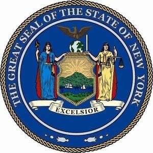 Aufkleber New York Siegel Flagge Seal Fahne USA Autoaufkleber Sticker