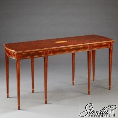 Inlay Sofa Table - 38846: Gorgeous 8 Leg Federal Mahogany Sofa or Library Table w Inlay ~ New