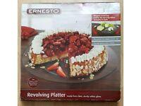 Ernesto Revolving Platter for Cakes, Pies, Cheese & Snacks 31.5cm - Brand New in Box