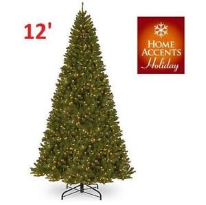 NEW HOME ACCENTS CHRISTMAS TREE 12' NRV7-306EC-120X 214989616 1000 CLEAR LIGHT NORTH VALLEY SPRUCE
