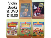 LEARN TO PLAY THE VIOLIN ~ CHILDRENS BOOKS & DVD INSTRUCTION AND SONGBOOKS