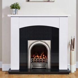 Blyss white wooden fire surround