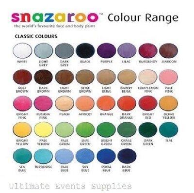 Snazaroo Make-Up 18ml Tiegel/Schwämme Halloween Kostüm Make-Up