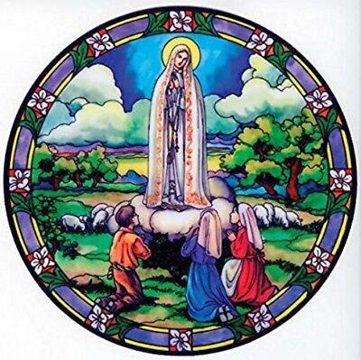 Our Lady of Fatima Stained Glass Suncatcher Sitcker Window Cling NEW Catholic