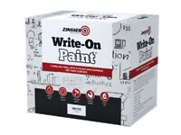 Whiteboard write on paint kit. Zinsser 30sqm