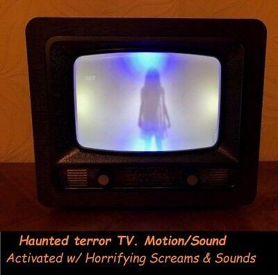 Motion Activated Halloween Sounds (Halloween Prop Animated Motion vibrating & sound activated Haunted terror 13